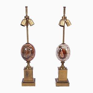 Lampade da tavolo vintage di Maison Charles, anni '60, set di 2