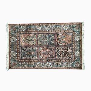 Vintage Teppich aus Kaschmirseide