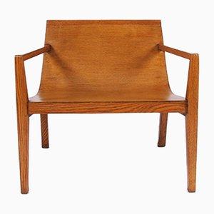 Moderne Armlehnstühle aus Eiche, 1950er, 2er Set