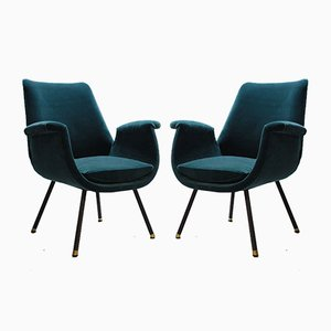 Mid-Century Armchairs by Gastone Rinaldi, 1950s, Set of 2