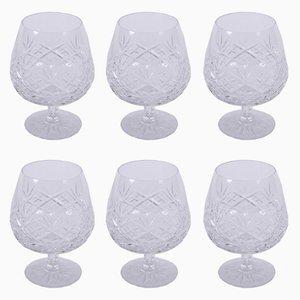 Mid-Century Brandy Glasses, Set of 6