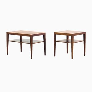 Vintage Side Tables by Severin Hansen for Haslev Møbelsnedkeri, Set of 2