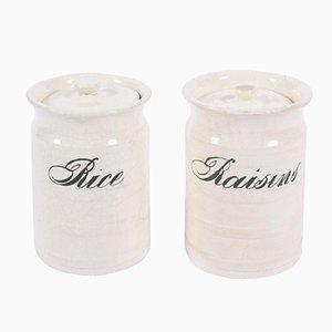 Pots à Riz et Raisin Vintage, Set de 2