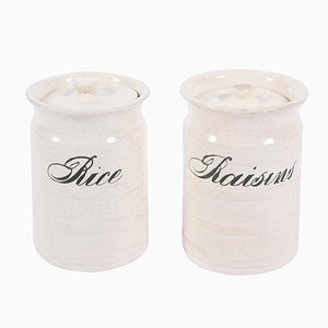 Vintage Rice and Raisin Jars, Set of 2