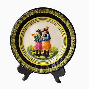 Decorative Plate by Quimper Henriot, 1960s