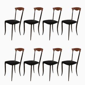 Italienische Charm Chairs von Fasem, 1980er, 8er Set