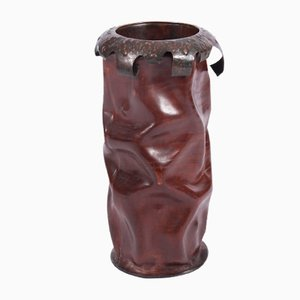 Leather Umbrella Stand, 1960s