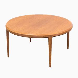Round Teak Coffee Table by Hans and Johannes Andersen for CFC Silkeborg