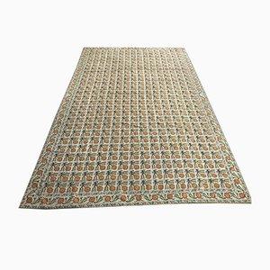 Großer Vintage Aubusson Teppich mit Gobelinstickerei