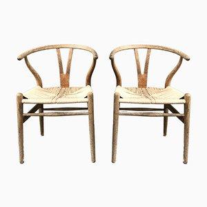 Chaises de Salle à Manger CH24 Vintage par Hans Wegner pour Carl Hansen & Son, Set de 2