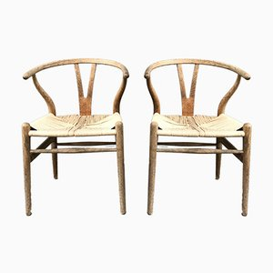 Vintage CH24 Dining Chairs by Hans Wegner for Carl Hansen & Son, Set of 2