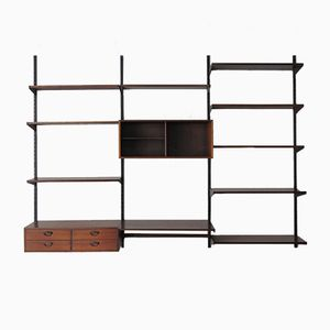 Rosewood Wall Unit by Kai Kristiansen for FM Møbler, 1960s