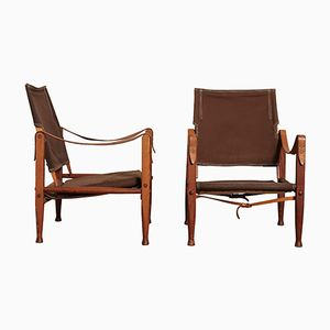 Vintage Safari Chairs by Kaare Klint for Rud Rasmussen, Set of 2