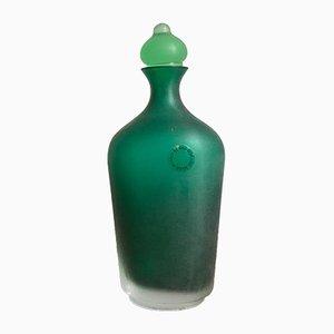 Botella Velati Series de vidrio de Venini Murano, 1996