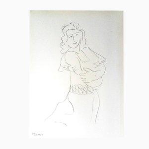 Litografía de bailarina de Henri Matisse, 1943