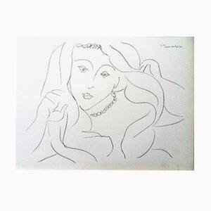 Lithographie Woman par Henri Matisse Lithograph, 1943