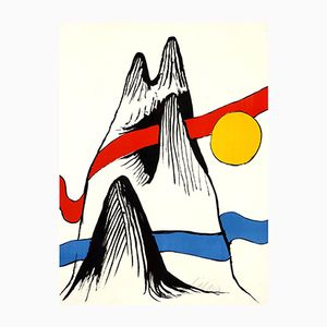 Mountain and Sun Lithograph by Alexander Calder, 1970s