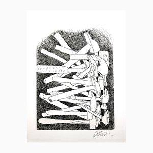 Gravure à l'Eau Forte Accumulations par Arman, 1980s