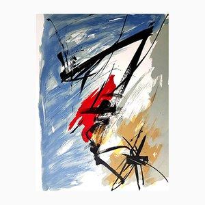 Grabado de aguatinta Abstract Composition de Jean Miotte, años 70