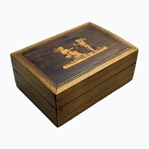 Olive Wood Box from Sorrento, 1890s