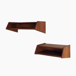 Tables de Chevet Flottantes Vintage par Aksel Kjersgaard pour Odder, Set de 2