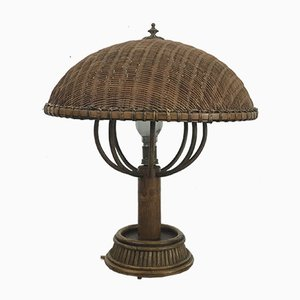 Rattan Table Lamp, 1960s