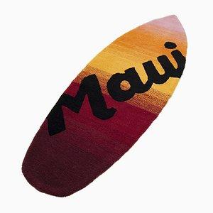 Tappeto Maui di lana a forma di tavola da surf di unosolo, 2014