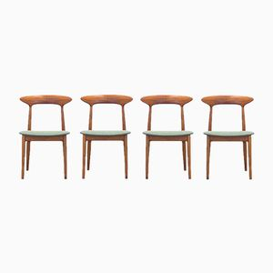 Teak and Oak Dining Chairs by Kurt Østervig for Brande Møbelindustri, 1950s, Set of 4