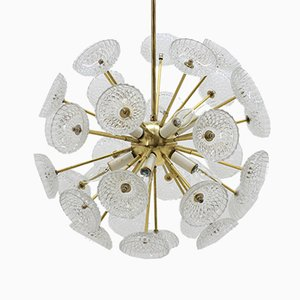 Sputnik or Dandelion Chandelier from Kamenický Šenov, 1970s