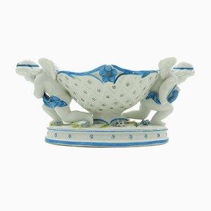 Cuenco de porcelana biscuit, década de 1890