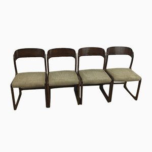 Sled Chairs from Baumann, 1960s, Set of 4