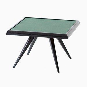 Table Basse en Cuir Vert, 1950s