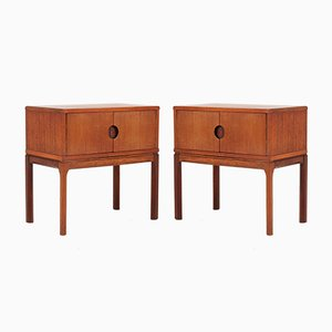 Teak No 384 Bedside Tables by Aksel Kjersgaard, 1950s, Set of 2