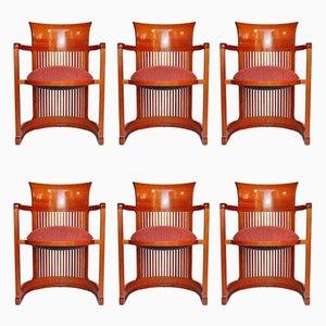 Stühle in Fass-Optik von Frank Lloyd Wright für Cassina, 1986, 6er Set