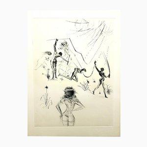 Acquaforte Venus in furs di Salvador Dali, 1968
