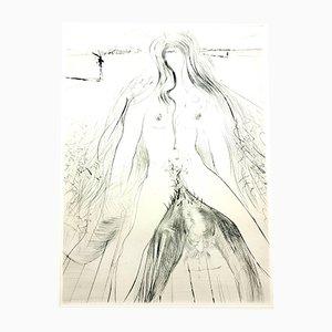 Aguafuerte la Venus de las pieles de Salvador Dalí, 1968