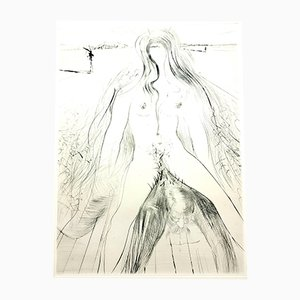 Gravure à l'Eau Forte Venus in Furs par Salvador Dali, 1968
