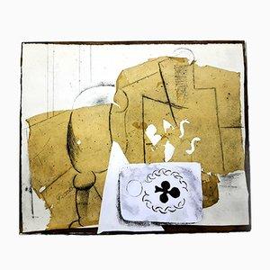 Estarcido Still Life cubista de Pablo Picasso para LEDA Editions, 1962