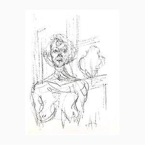 Composition Lithografie von Alberto Giacometti für Mourlot Press, 1964