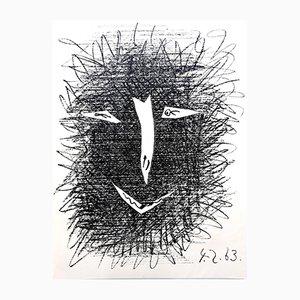 Litografía Deux Masques de Pablo Picasso, 1964