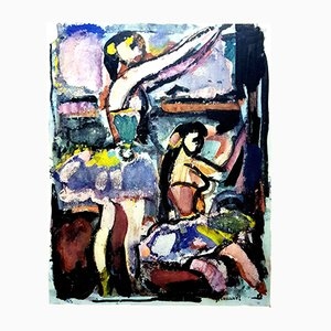 Litografía Dancing Women de Georges Rouault, 1943