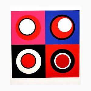 Lithographie Kinetic Composition II par Geneviève Claisse, 2014
