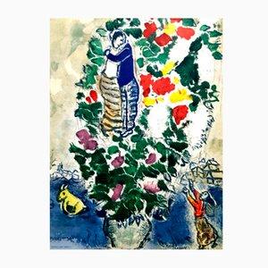 Lithographie Lovers par Marc Chagall, 1965
