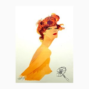 The Big Eyes Lithograph by Jean-Gabriel Domergue, 1956