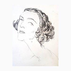 Portrait Radierung von Jean Gabriel Domergue, 1924