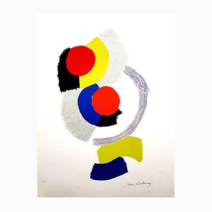 Composition Lithograph by Sonia Delaunay, 1960