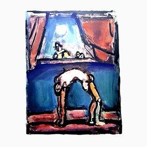 Litografía Acrobat de Georges Rouault, 1943
