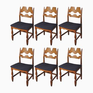 Sedie da pranzo vintage di Henning Kjærnulf per Nyrup Møbelfabrik, Danimarca, set di 6