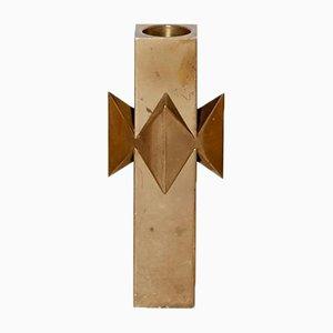 Candeleros de latón macizo de Pierre Forssell para Skultuna, años 60