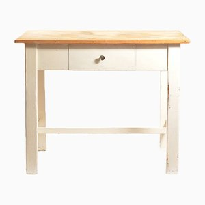 Farm Table with Drawer, 1950s